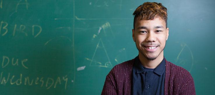 <p>NYC Men Teach student Khallid Kane</p>
