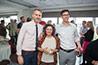 <p>Reception: Matthew Burgess, Elaine Brooks, and James Davis, English</p>