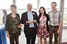 <p>Reception: Sharona Levy, Bruce MacIntyre, and Susan Davis</p>