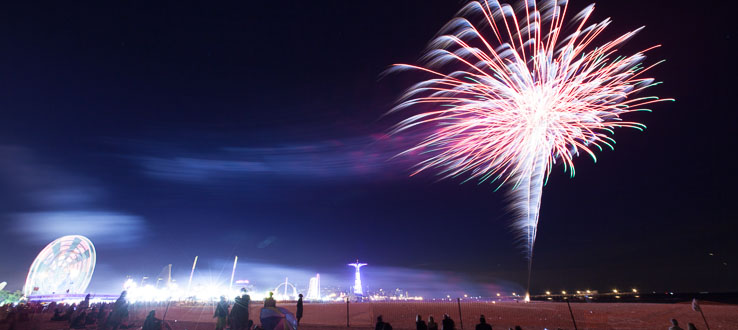 Celebrate summer every Friday night with fireworks over Coney Island, then read about its history at the library.
