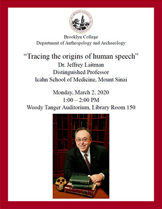 "Poster for ""Tracing the Origins of Human Speech"""