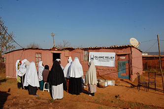 <p>View of Islamic Relief, South African Ramadan Food Distribution Center</p>