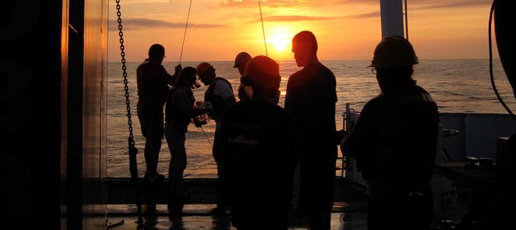 Sunrise Work at Sea