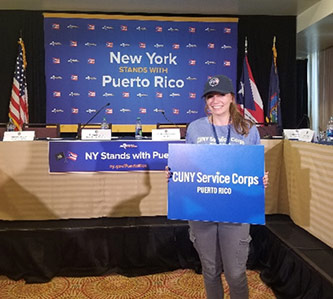 <p>Eliana Green, CUNY Service Corps—Puerto Rico. New York stands with Puerto Rico.</p>