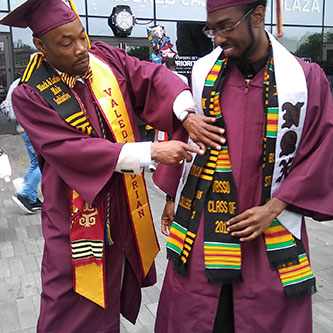 Kevin L. Jones and Shadiq Williams at BC Commencement, 2017.