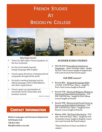 French Studies at Brooklyn College