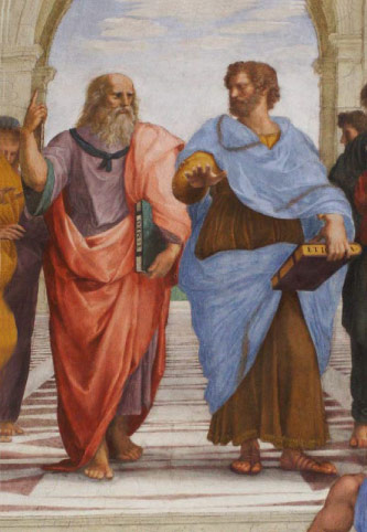 <em>The School of Athens,</em> by Raphael, Apostolic Palace, Vatican City.
