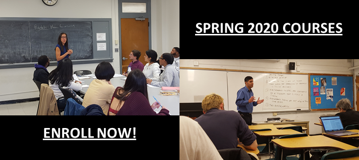 Spring 2020 Courses - Enroll Now!