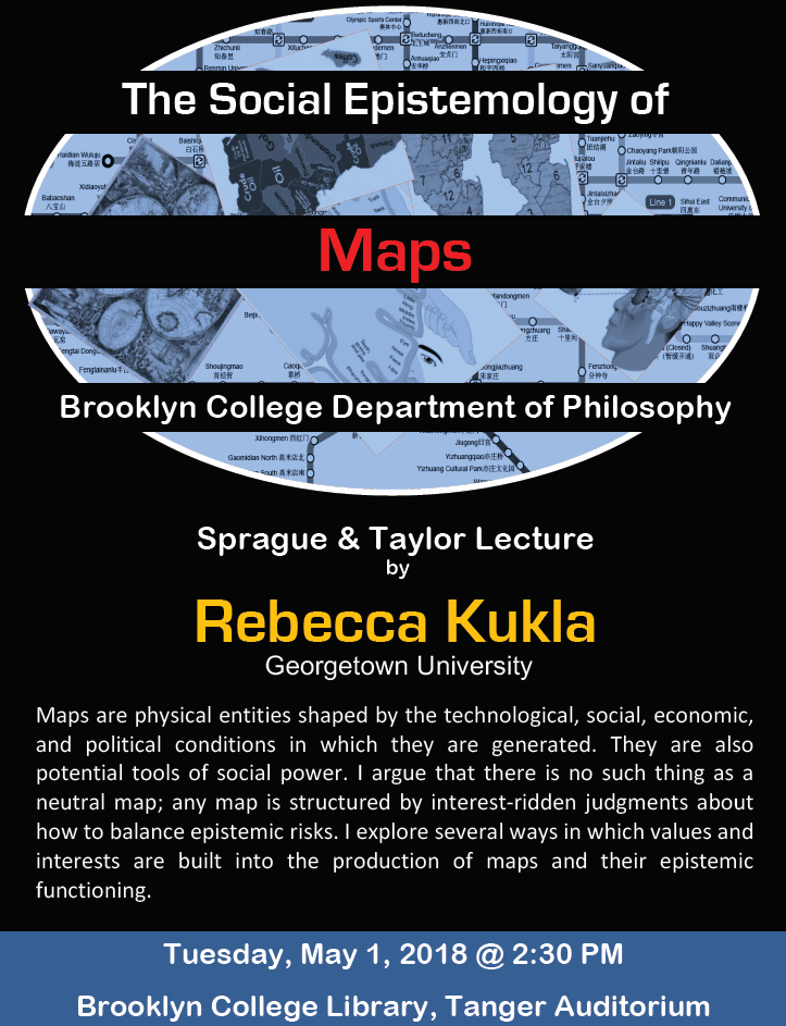 Event Flier: The Social Epistemology of Maps
