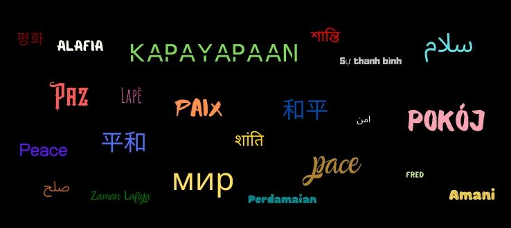 Peace in the languages of the world