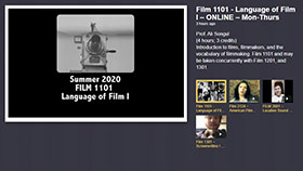 Summer 2020 Film Courses
