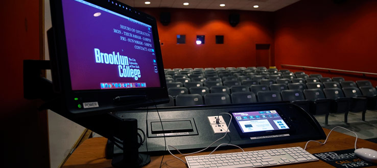 Smart podiums in every classroom for easy access to media and online screening options.