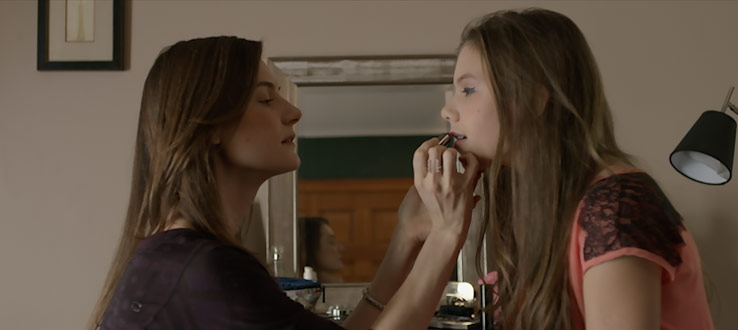 Still shot from the thesis film, 'Red Lips', by Clara Brotons.