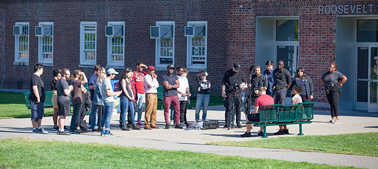 The art of filmmaking begins on the Brooklyn College campus.