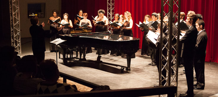 The Conservatory Singers is a chamber choir that attracts fine singers of varying styles and backgrounds.