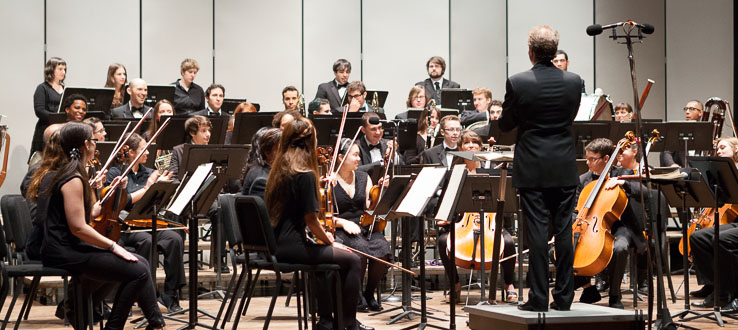 As a member of the Conservatory Orchestra, you'll perform everything from the baroque to new music.