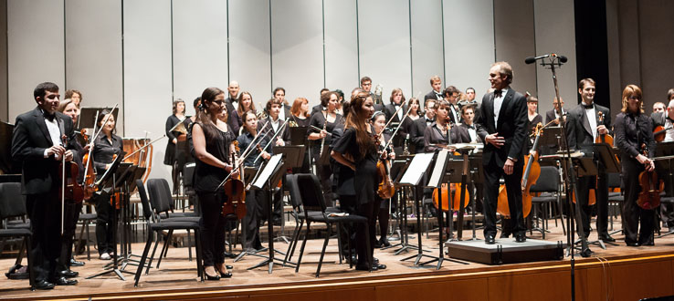 Our numerous ensembles perform under the direction of world-renowned musicians and conductors.
