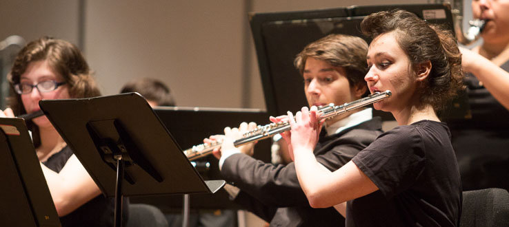 Undergraduate and graduate music students start to become world-class performers from their very first semester.