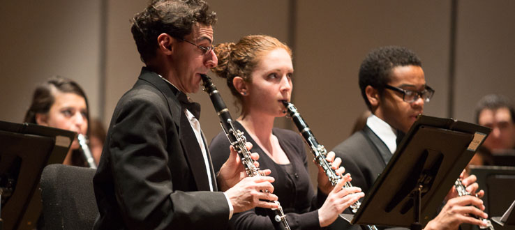 The Wind Ensemble performs at least three full-length concerts every year.