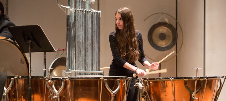 The percussion program embraces both the new and the classic.