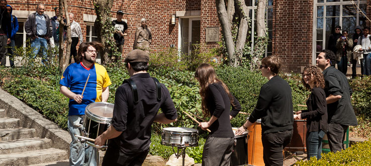 Conservatory percussionists inaugurated the Chamber Music at the Lily Pond series in the spring of 2013.