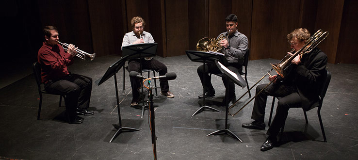 1<p>The Conservatory's stellar brass faculty includes members of the renowned Canadian Brass.</p>