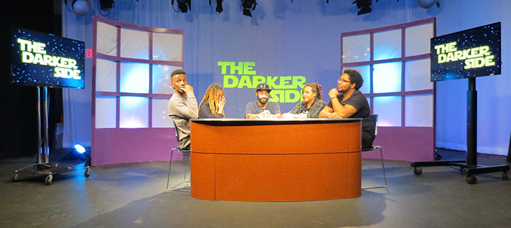 "<p>""The Darker Side"" MFA Muti-Camera production in the TV Center's Studio B. Created by Television Production MFA candidate Nelson Rolon.</p>"