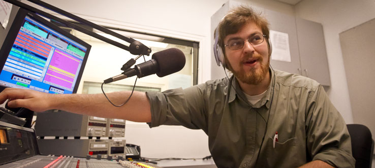 Broadcast your voice on our campus radio station.