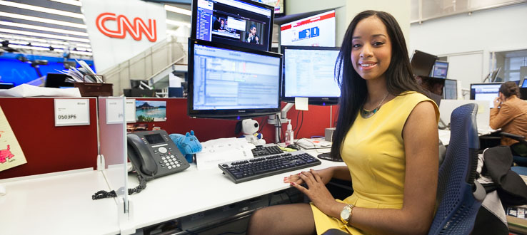 Internships at upper-tier media outlets are part of our program.