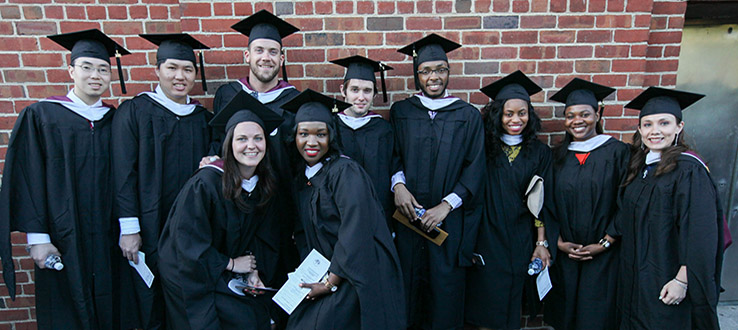 Every year, about one thousand students receive their master's degree at the Commencement Ceremony.