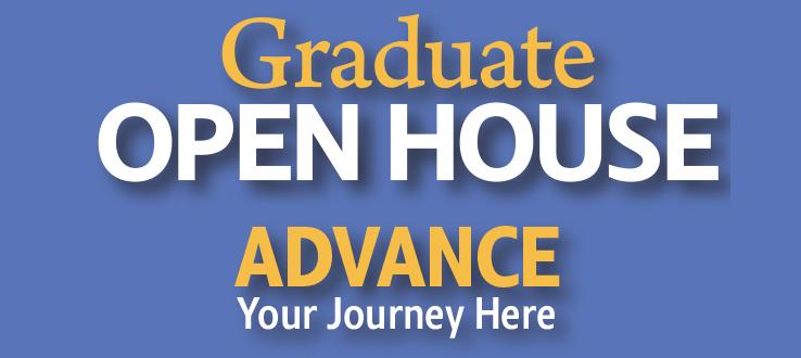 Graduate Open House, Thursday, October 25, 2018, 6 p.m.