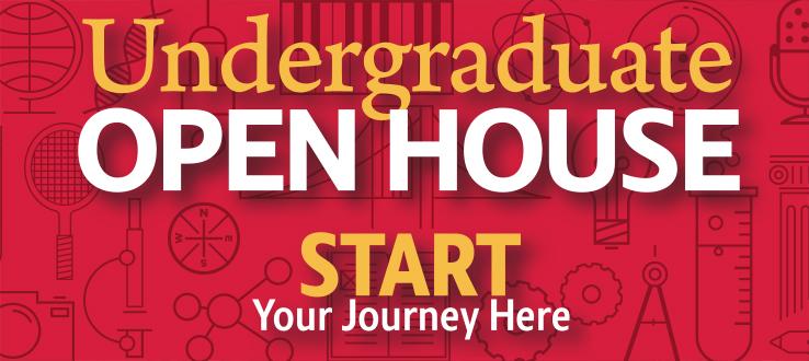 Undergraduate Open House, Sunday, October 21, 2018, 10 a.m.