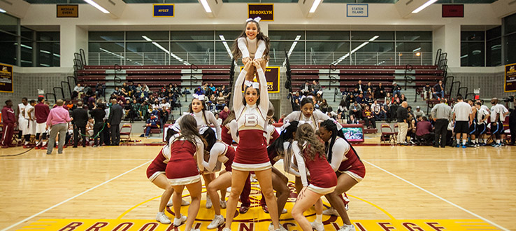 Our sports teams give you—and our talented cheerleaders—something to get fired up about.