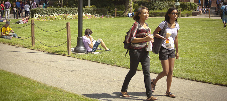 Our campus is bustling even during the summer.