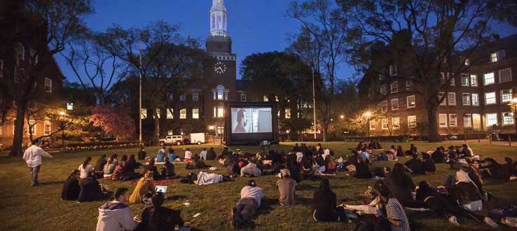 Movie Night keeps our campus lively even after sundown.