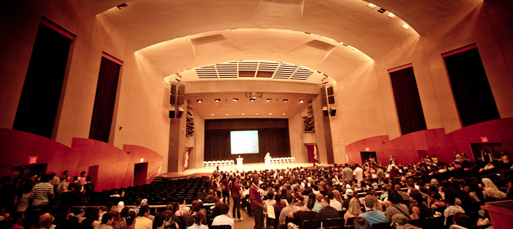 From performances to Commencement, Whitman Hall hosts our most exciting events.