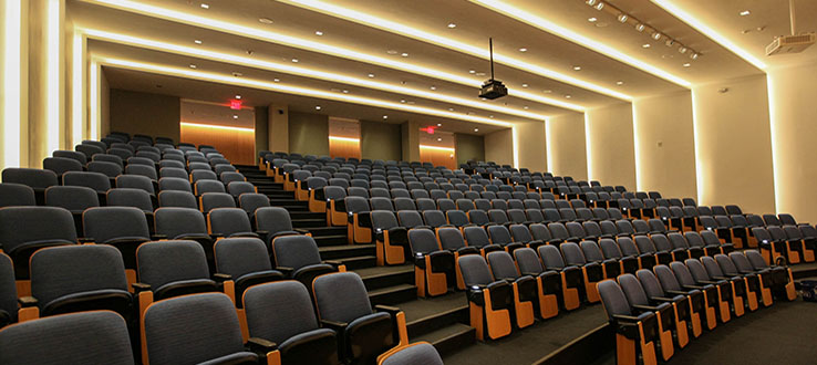 Newly refurbished lecture halls make your learning spaces even more inviting.