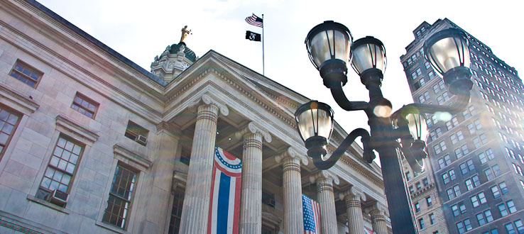Brooklyn's dignified Borough Hall is the borough's oldest public building.