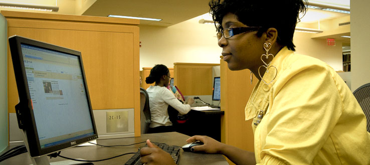 Nearly 1,500 computers on campus are available to you.