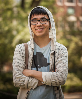 A devout Buddhist, Ocean Vuong covers his head three times a week as a sign of humility.