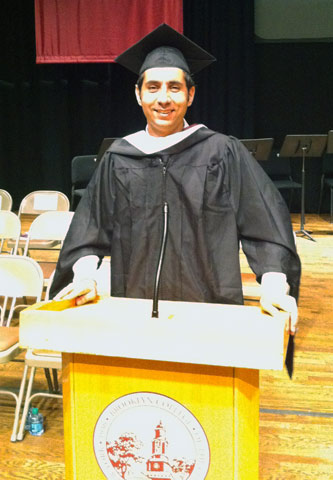 Orhan Top is geared up for the master's Commencement Exercises.