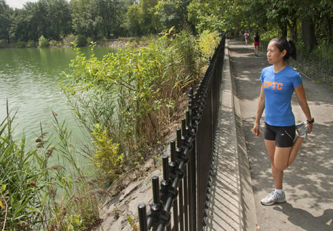Vongvorachoti often runs in Central Park and is a member of the Central Park Track  Club.