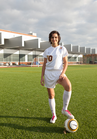 Petcu is one of the captains of the Brooklyn College women's soccer team.