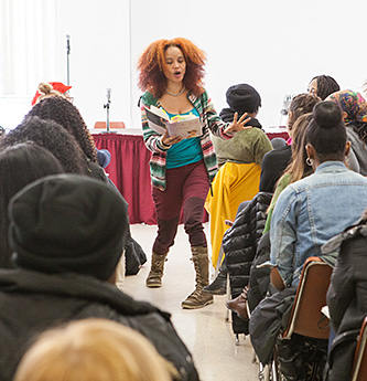Poet Staceyann Chin reads from her memoir, The Other Side of Paradise.