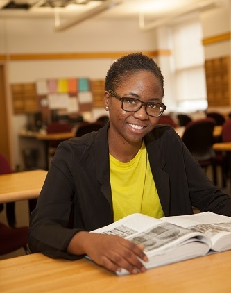 <p>Freshman Sasecie Bernard is grateful for the opportunity to prove her academic prowess and use what she learns to help others.</p>