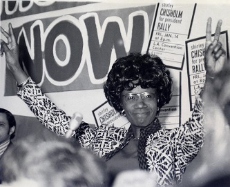 <p>Presidential candidate Shirley Chisholm in 1972.</p>