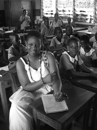<p>Africana studies student Chason John participates in classroom instruction in Besease, a village in the Central Region of Ghana.</p>