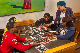 <p>Students in Africana studies receive keen insights into the lives and accomplishments of great historical and contemporary black figures, including Brooklyn College alumni like Shirley Chisholm '46, Gloria Naylor '81, and Sapphire '95 M.F.A.</p>