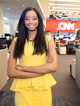 <p>Senior Kelly Harry has scored big internships at CNN and NBC.</p>