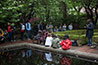 <p>Poetry at the Pond: On May 15, the campus community was treated to performances by up-and-coming student poets and musicians at the Poetry at the Pond event, held near the college's picturesque lily pond.</p>